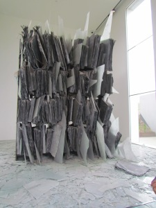 Loved this one. Lead books with shards of glass on a 'bookcase'. Smelt a little of sulphur though, brought back memories.