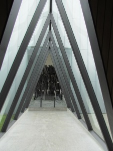 and the glass tunnel leading into it.