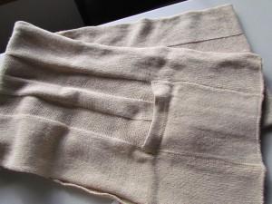 scarf - polyester, nylon, ??, wool.