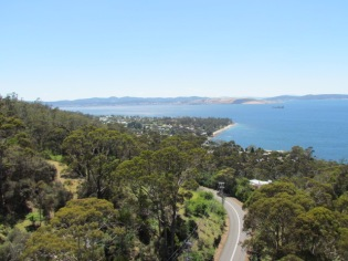 Looking NE with Hobart around the corner to the left.
